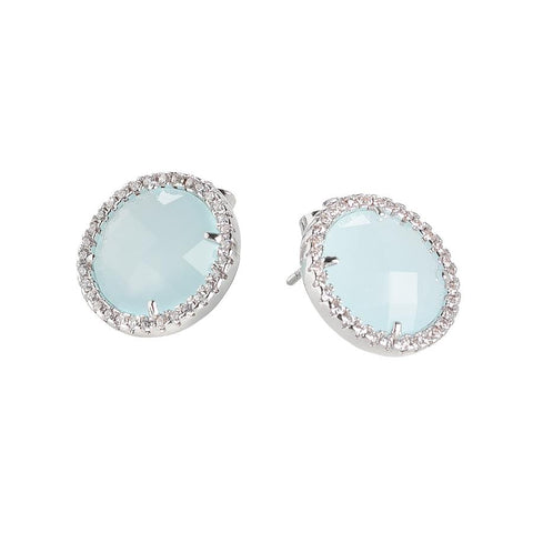 Related product : Earrings in the lobe with aquamilk crystals and zircons