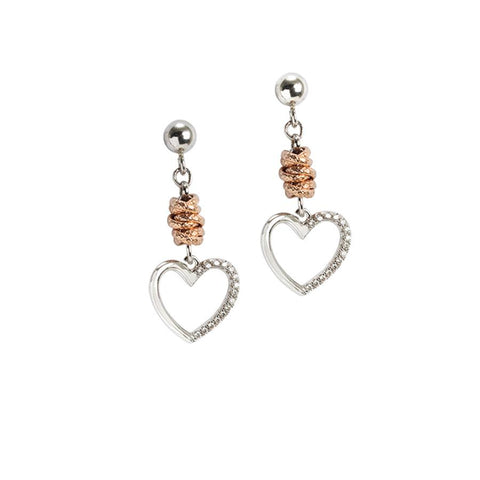 Rodiati Earrings Pendant with a heart and zircons