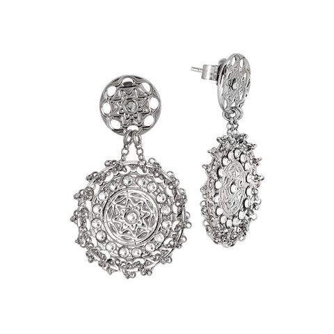 Related product : Earrings rodiati with decoration etruscan and Swarovski