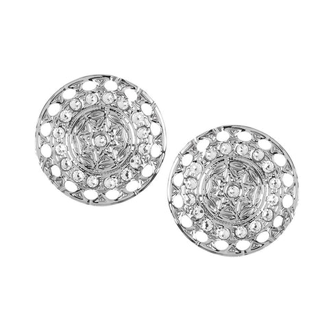 Related product : Earrings rodiati lobe with decoration etruscan and Swarovski