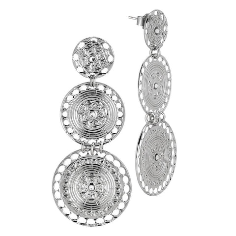 Related product : Earrings with circular pendants of Etruscan inspiration and Swarovski