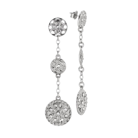 Related product : Pendant earrings with decorations of the Etruscans and Swarovski