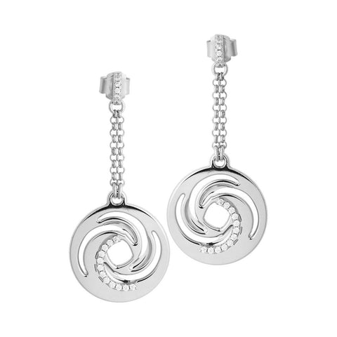 Related product : Earrings hanging decoration with a vortex and zircons