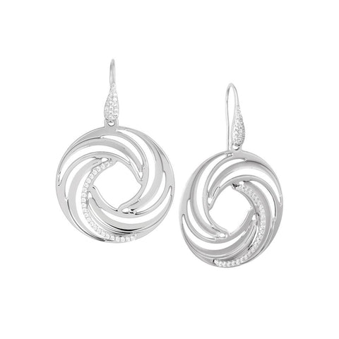 Related product : Earrings Pendant with circular vortex and zircons