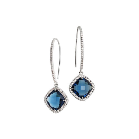 Related product : Earrings with hook monachella, crystal blue montana and zircons