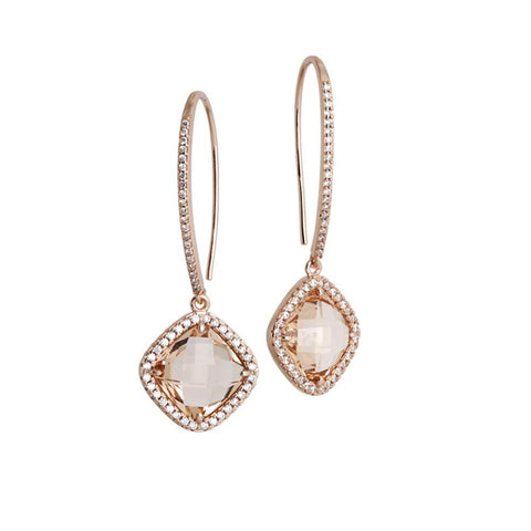 Related product : Earrings with hook monachella, crystal peach and zircons