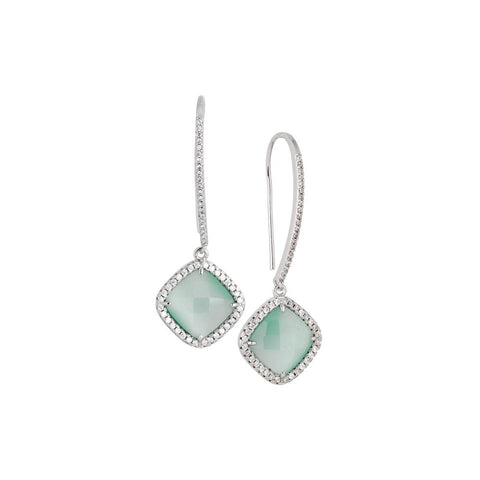 Related product : Earrings with hook monachella, crystal green mint and zircons