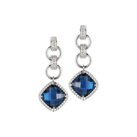 Related product : Earrings with crystal blue montana pendant and zircons