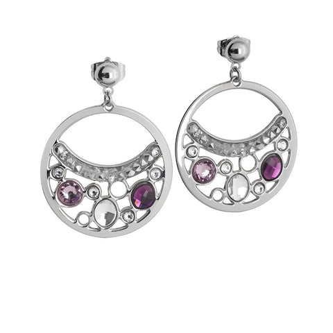 Related product : Earrings Pendant with a circle and Swarovski Crystals