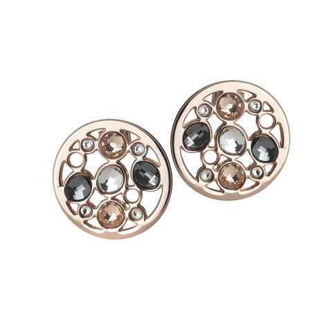 Related product : Earrings plated lobe pink gold with Swarovski