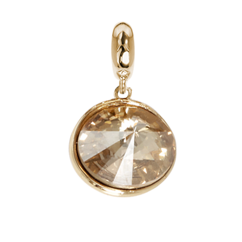 Related product : Charm with Swarovski Crystal Golden Shadow