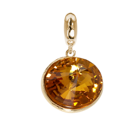 Related product : Charm with Swarovski Crystal topaz