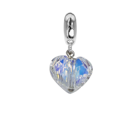 Related product : Charm with Swarovski Crystal aurora borealis