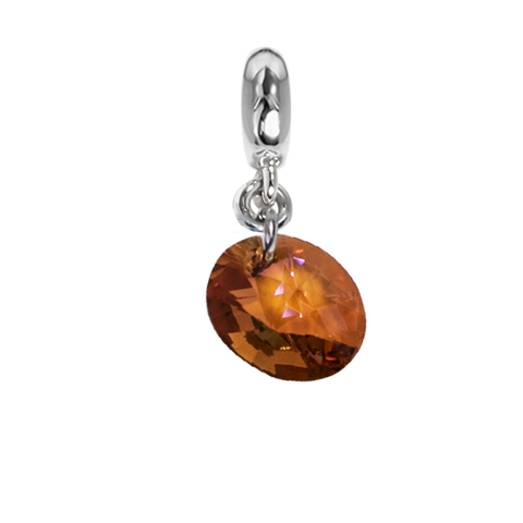 Related product : Charm with Swarovski Crystal copper