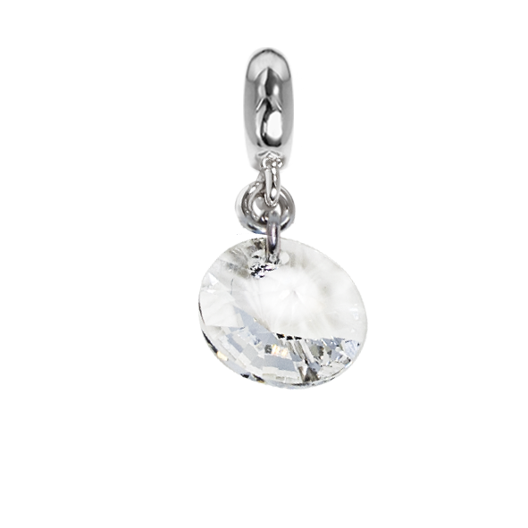 Charm with crystal Swarovski faceted crystal