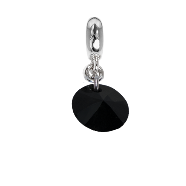 Charm with Swarovski Crystal jet