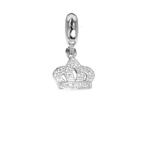 Charm in the shape of a crown with zircons