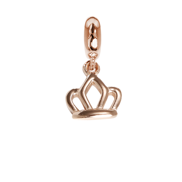 Rose charm in the shape of a crown
