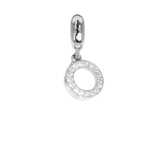 Charm in the form of a circle with zircons