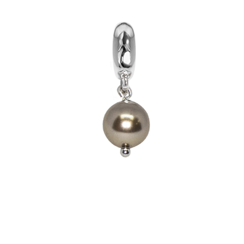 Charm with pearl Swarovski bronze
