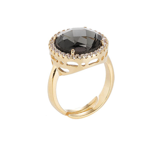 Related product : Ring with crystal smoky quartz