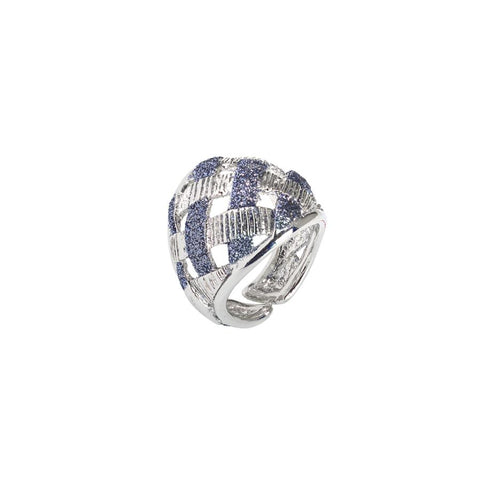 Ring with decoration in Glitter black