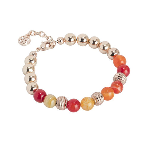 Bracelet rosato with beads of agate orange