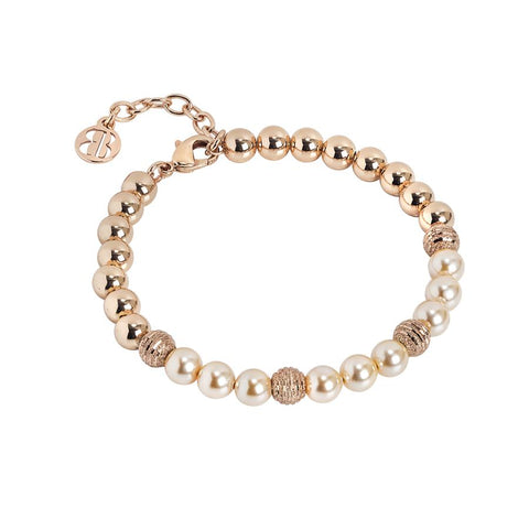 Bracelet rosato with Swarovski beads peach