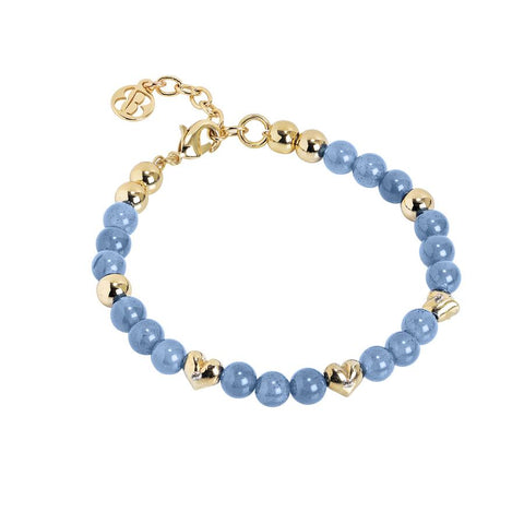 Bracelet with Swarovski and Blue Agate