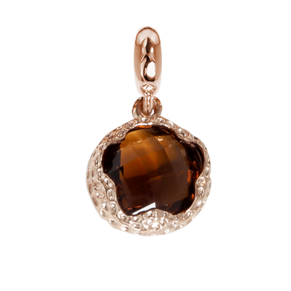 Charm in Faceted crystal fumè