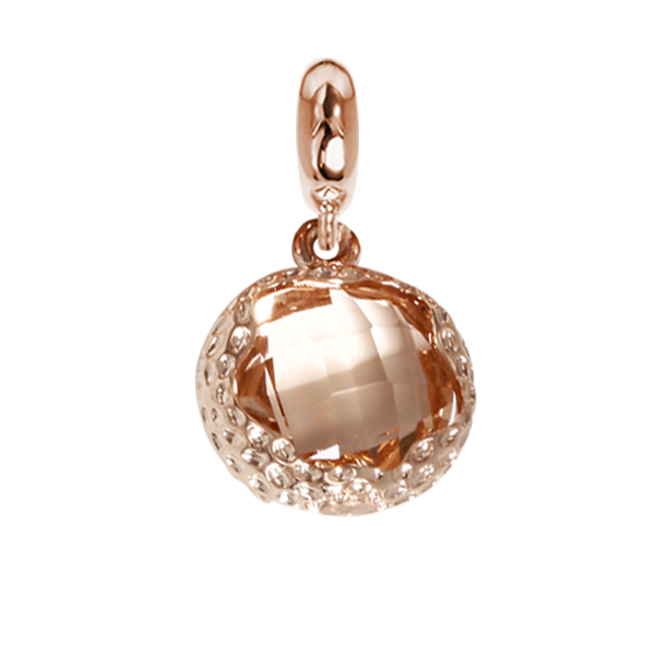Charm in Faceted crystal peach