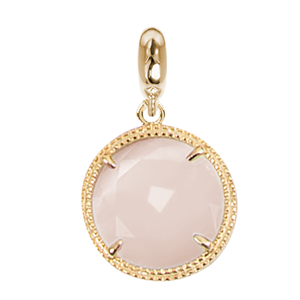 Charmplaccato yellow gold in Faceted Crystal Pink