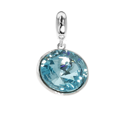 Related product : Charm with Swarovski crystal light torquoise