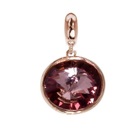 Related product : Charm with Swarovski Crystal antique pink