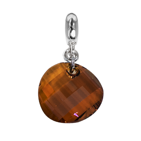 Related product : Charm with Swarovski Crystal irregular copper