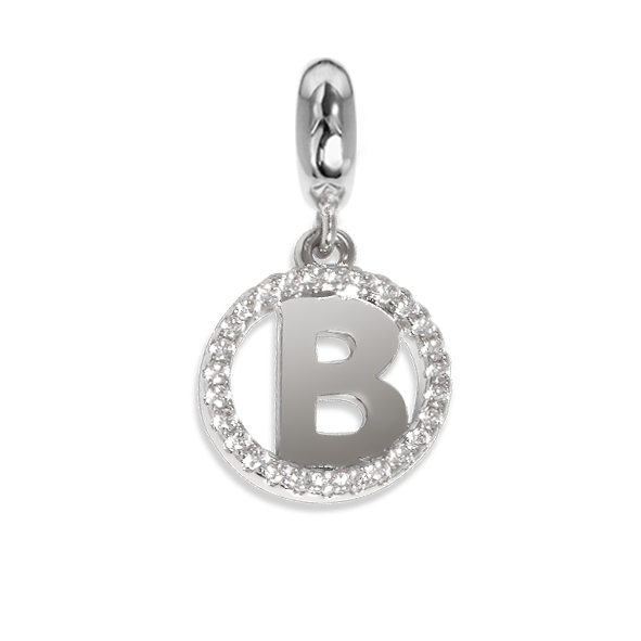 Circular charm in zircons with letter B