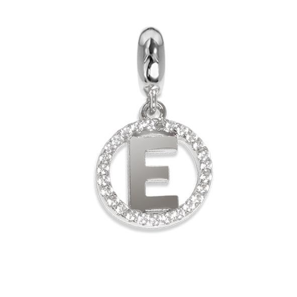 Circular charm in zircons with letter E