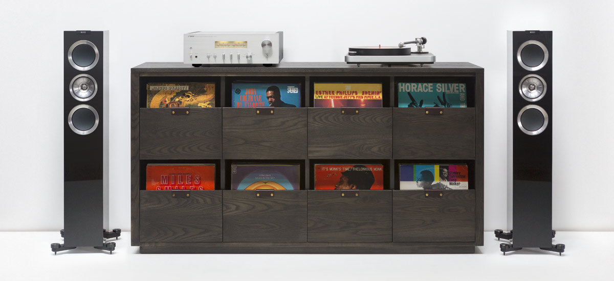 Dovetail Vinyl Storage Cabinets Utilize A U201cfile Draweru201d Approach To Store  LPs And Allow You To Easily Flip Through An Entire Record Collection While  ...