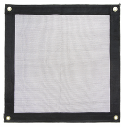 Black Mesh Tarp Heavy Duty,  Fire Retardant