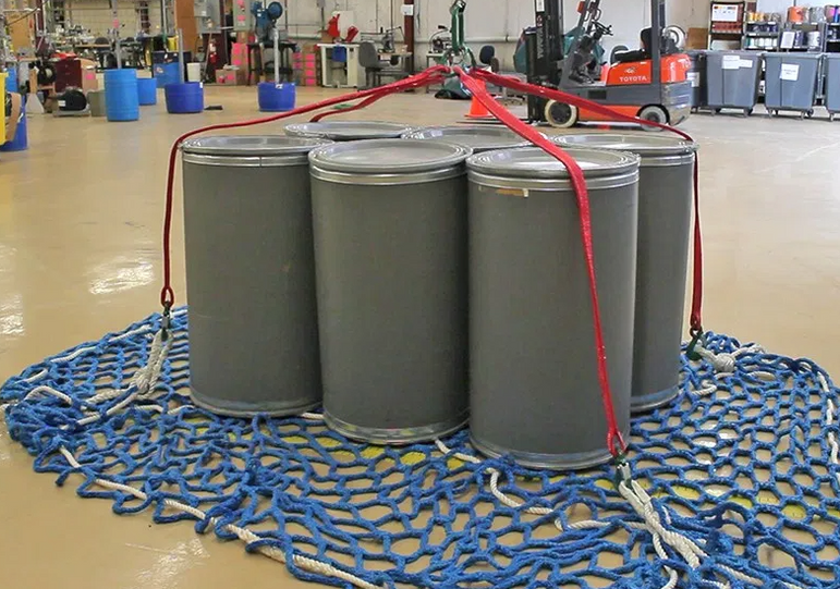 Liftting Net to Move Multiple 55 Gallon Drums