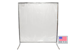 Portable Welding Screens - Clear Portable Dividers - Floor