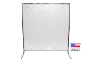 Portable Welding Screens - Clear Portable Dividers
