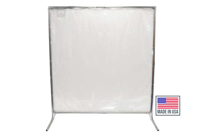 Clear Welding Screens & Portable Clear Floor Dividers for Social Distancing