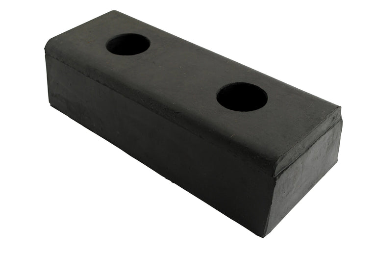 Vestil Molded Rubber Bumper - W - 10 in x H - 4-1/2 in x D - 3 in - Model DBE-10-1