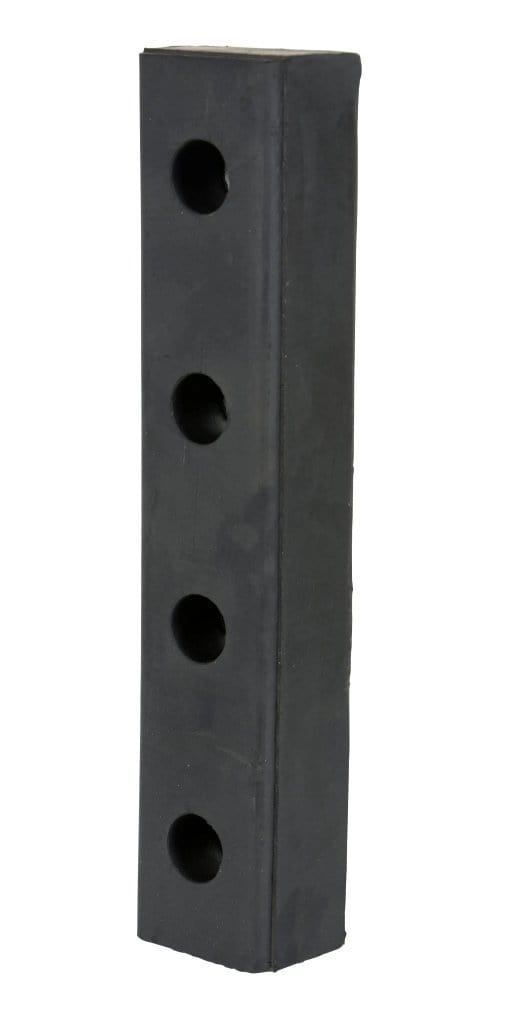 Vestil Molded Rubber Bumper - W - 20 in x H - 4-1/2 in x D - 3 in - Model DBE-20-1