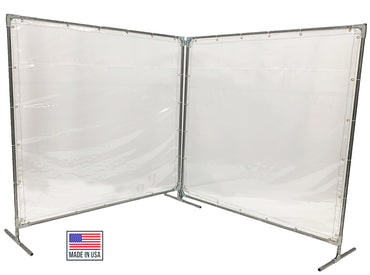Portable Welding Screens 2-3-4 Sided - Clear Dividers