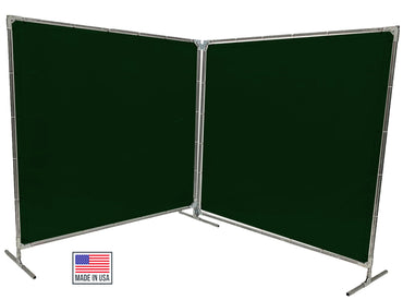 Welding Screens & Frame 2-3-4 Panels, Transparent 14 Mil Dark Green, See-Thru Weld Screens