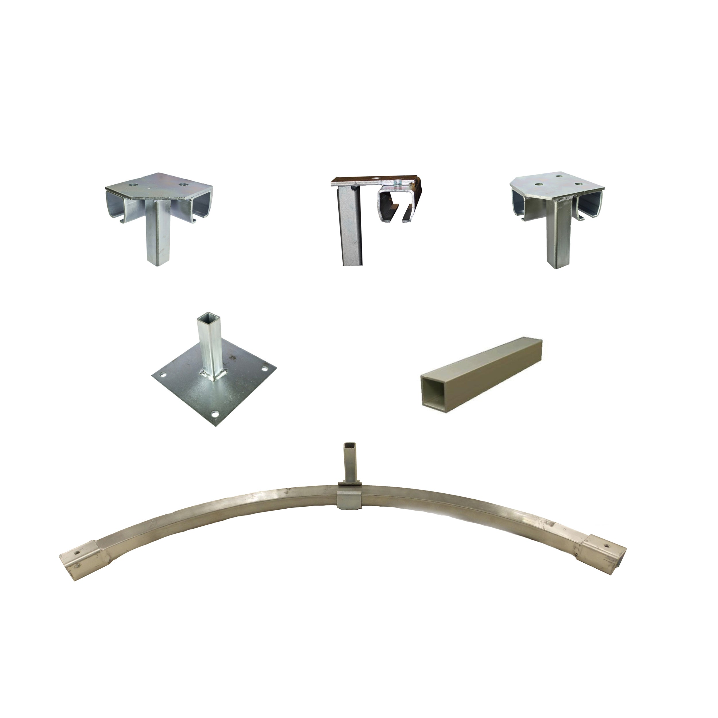 Industrial Curtain Track Hardware - Floor Mount