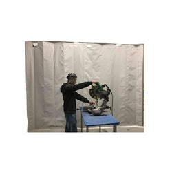 Industrial Soundproof Curtains in Cutting and Grinding Area