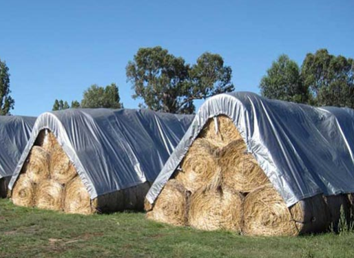Hay Tarps for Salvaging Large Bails
